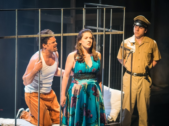 Julia Beers and cast onstage in Kiss of the Spider Woman