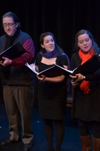 Image of Julia Beers and cast onstage in the Inverse Opera's Messiah.