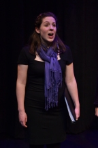 Image of Julia Beers onstage singing in the Messiah.