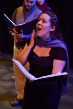 Image of Julia Beers singing onstage in Inverse Opera's Messiah.