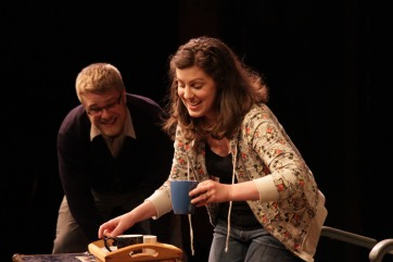 Julia Beers and Zach Adair onstage in Quickies 14.