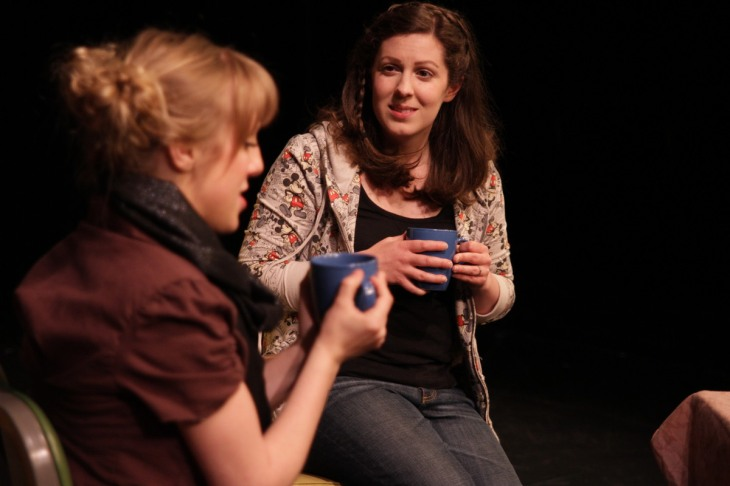Julia Beers onstage in a scene from Quickies 14.
