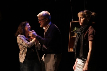 Julia Beers and cast onstage.