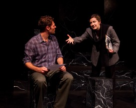 Julia Beers and Mark Tyler Miller onstage in the play Yellow Face.