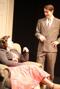 Image of Julia Beers and Jed Mathre onstage in Perfect Arrangement.